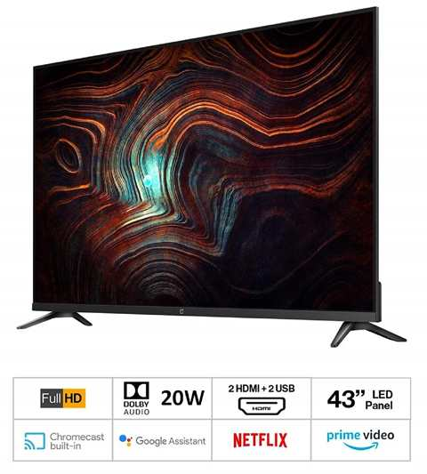 OnePlus Y Series 43 Inch Smart LED TV Amazon Great Indian Festival Sale